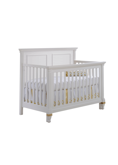 Natart Belmont-Gold 4-in-1 Convertible Crib  (w/out rails)