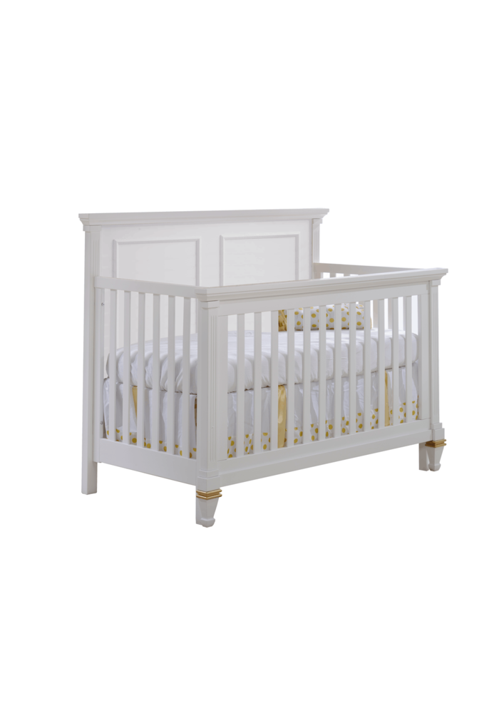 Belmont-Gold 4-in-1 Convertible Crib  (w/out rails)