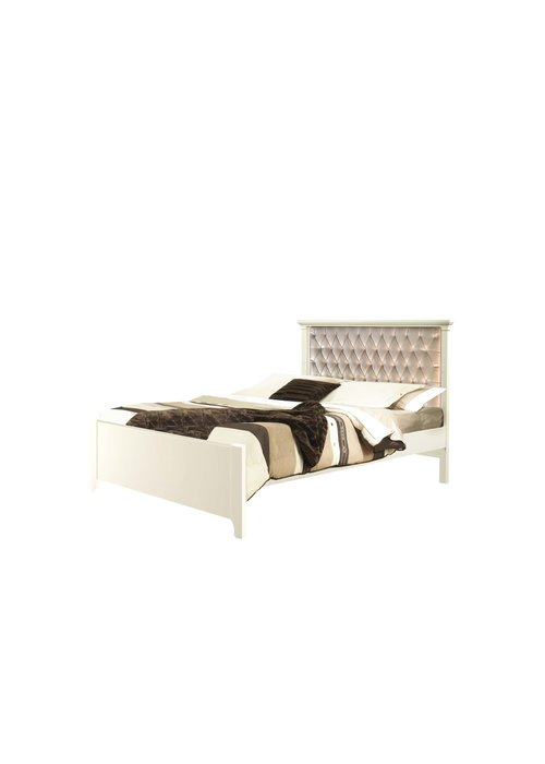 Natart Natart Belmont Double Bed With Low Profile Footboards With Panel Platinum