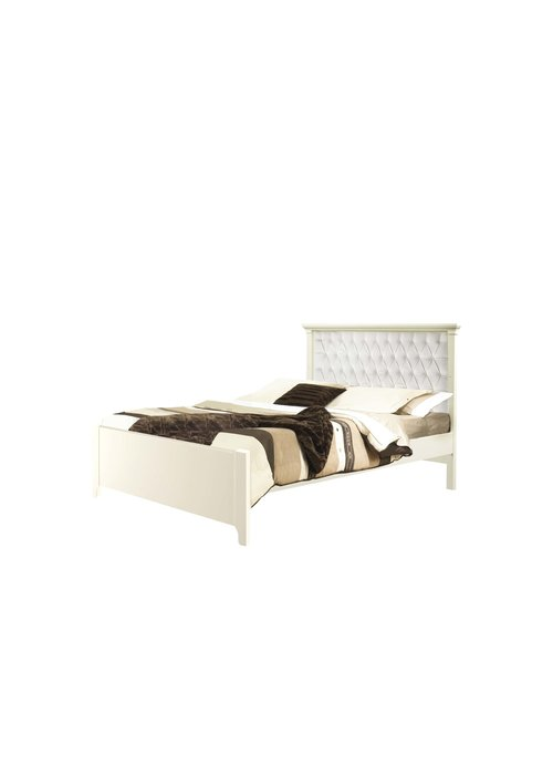 Natart Natart Belmont Double Bed With Low Profile Footboards With Panel White