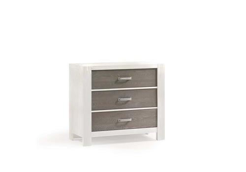 Natart Natart Rustico-Moderno 3 Drawer Dresser In White-Owl
