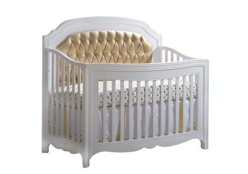 """Natart Natart Allegra-Gold """"5-in-1""""  Convertible Crib (w/out rails) With Gold Panel"""