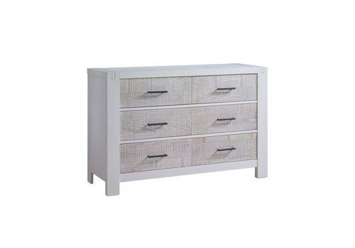 Natart Natart Rustico-Moderno Double Dresser In White- White Bark
