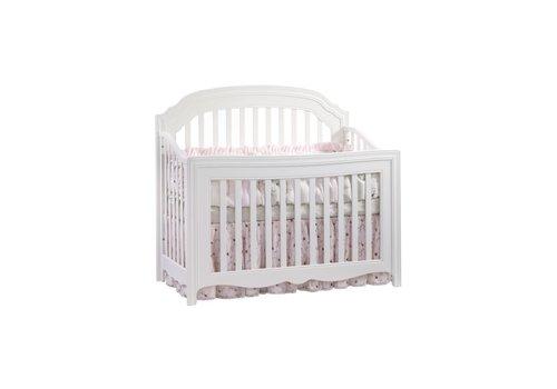 Natart Natart Allegra 4 In 1 Convertible Crib to Double In Pure White