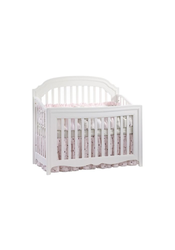 Natart Allegra 4 In 1 Convertible Crib to Double In Pure White