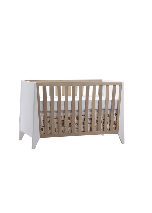 Nest Juvenile Nest Juvenile Flexx Classic Crib In White/Natural Wheat