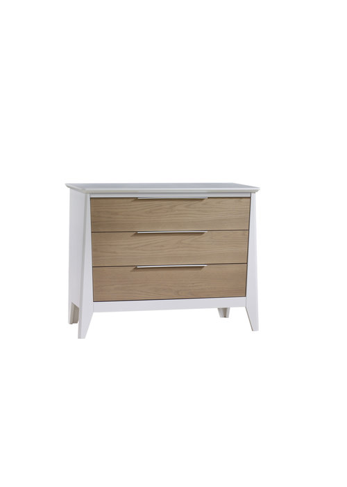 Nest Juvenile Nest Juvenile Flexx 3 Drawer Dresser XL In White/Natural Wheat