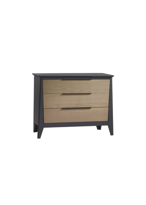 Nest Juvenile Nest Juvenile Flexx 3 Drawer Dresser XL In Graphite/Natural Wheat