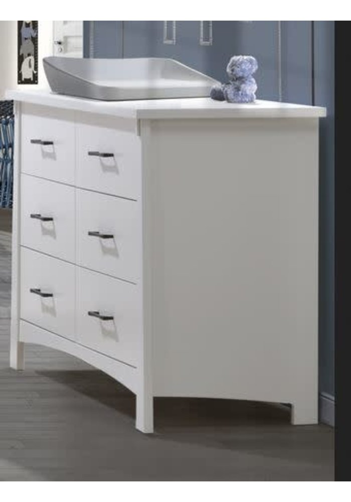 Nest Juvenile Bruges Collection Double Dresser In White