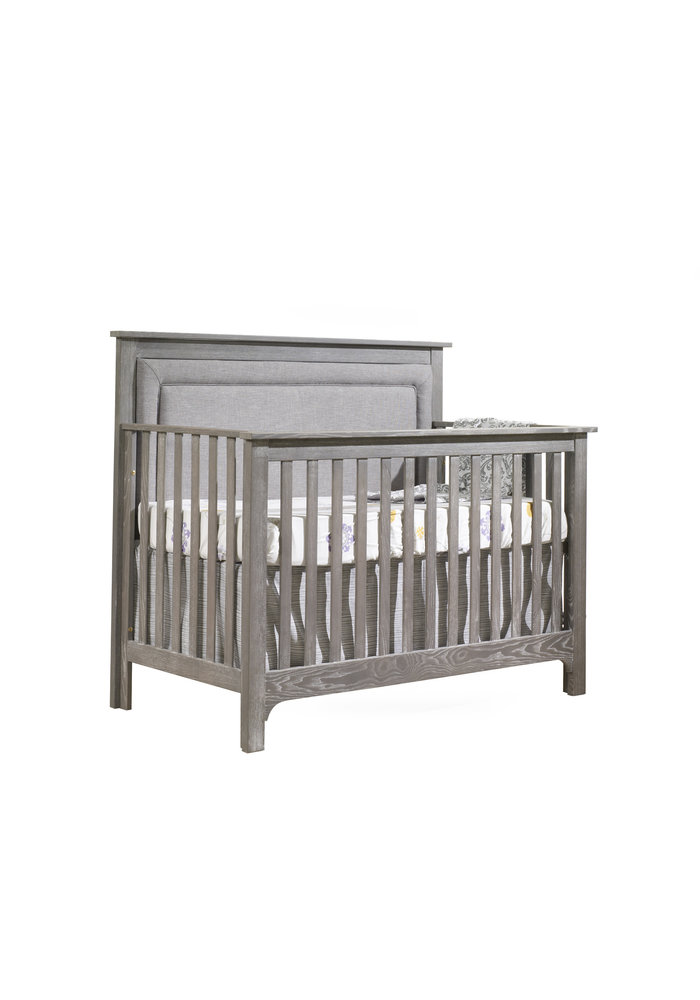 Nest Juvenile Emerson Crib In Owl With Upholstered Panel In Fog