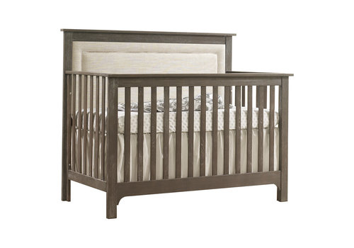 Nest Juvenile Nest Juvenile Emerson Crib In Sugarcane With Upholstered Panel In  Talc