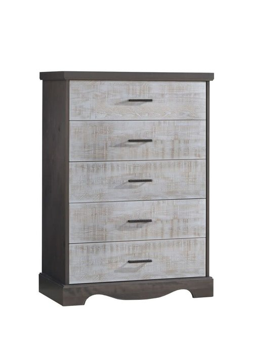 Nest Juvenile Nest Juvenile Matisse Collection 5 Drawer Dresser In Grigio/White bark