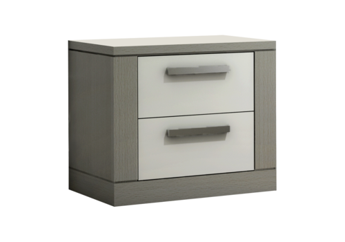 Nest Juvenile Nest Juvenile Milano Night Stand In Elephant Grey/White