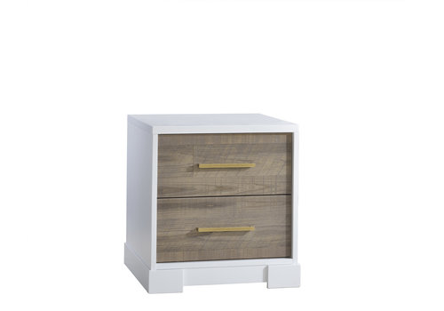 Nest Juvenile Nest Juvenile Vibe Collection Night Stand In White/ Brown Bark