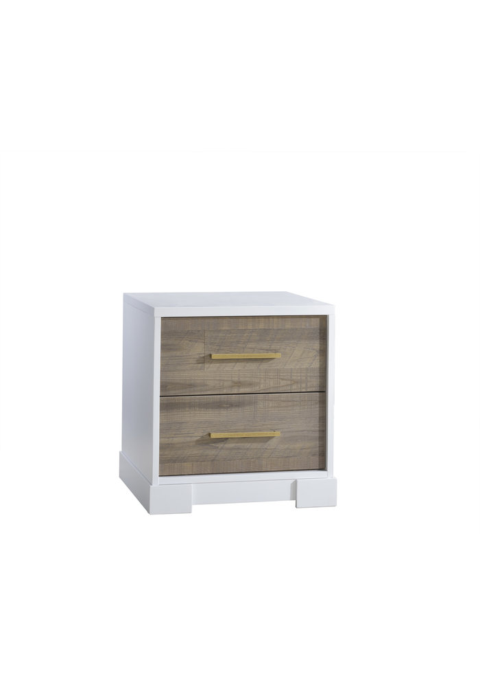 Nest Juvenile Vibe Collection Night Stand In White/ Brown Bark