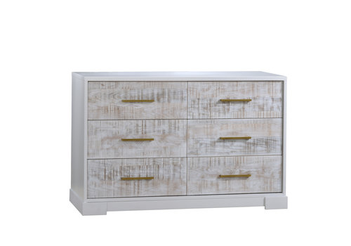 Nest Juvenile Nest Juvenile Vibe Collection Double Dresser In White/White Bark