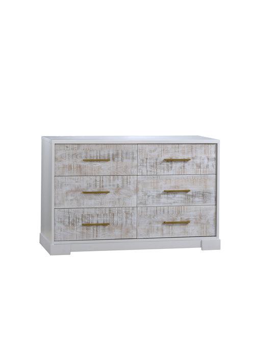 Nest Juvenile Nest Juvenile Vibe Collection Double Dresser In White/White Bark