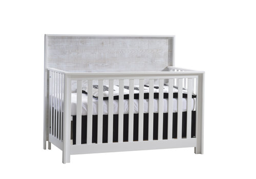 Nest Juvenile Nest Juvenile Vibe Collection Convertible Crib In White/White Bark