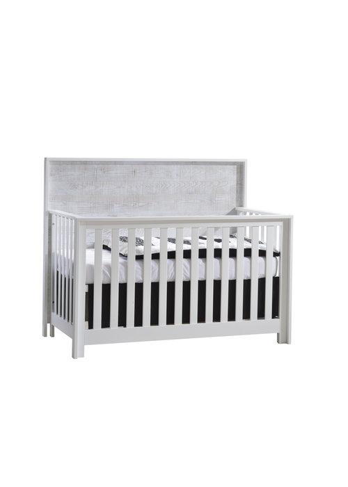 Nest Juvenile Nest Juvenile Vibe Collection Convertible Crib In White/White Bark