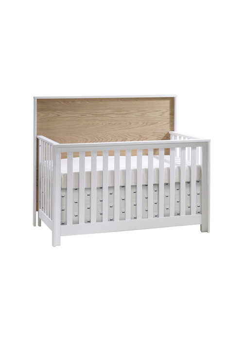Nest Juvenile Nest Juvenile Vibe Collection Convertible Crib In White/Natural Oak