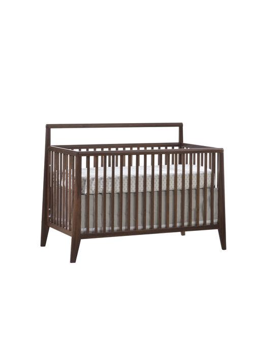 Natart Natart Juvenile Rio Convertible Crib With Plexy In Walnut