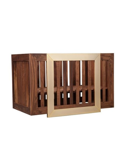 Nursery Works Nursery Works Lydian Crib In Walnut 24K Gold