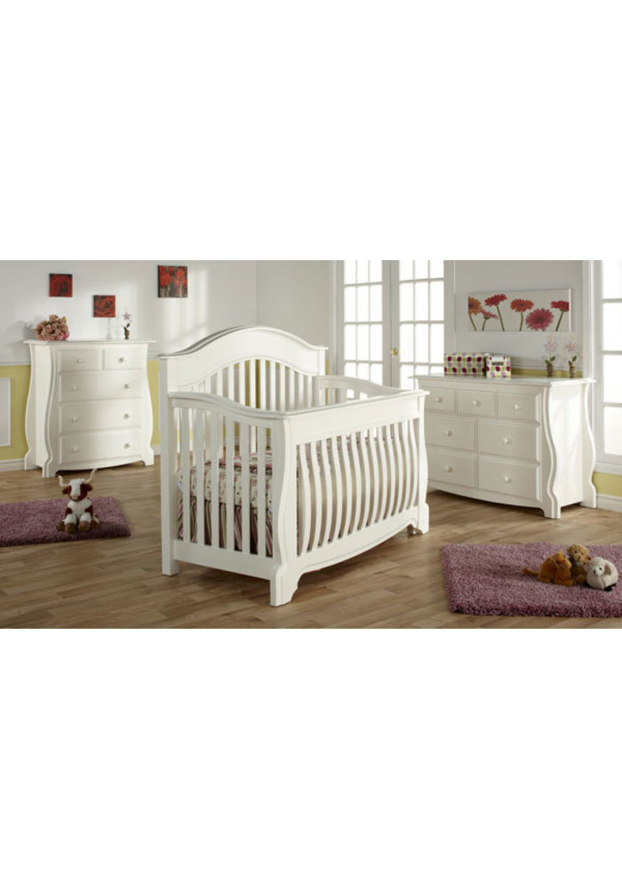 Pali Furniture Bergamo Forever Crib In White
