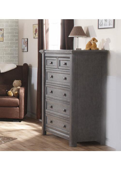 Pali Furniture Pali Furniture Cristallo 5 Drawer Dresser In Granite