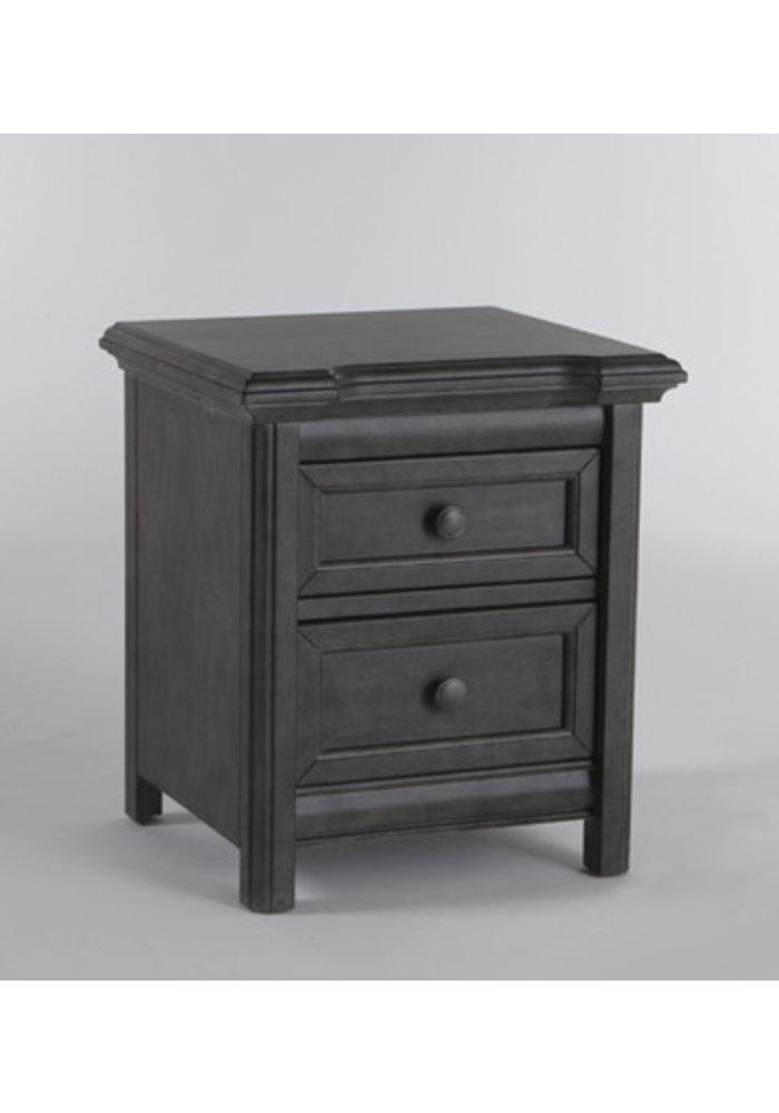 Pali Furniture Cristallo Nightstand In Distressed Granite