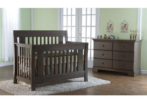 Pali Furniture Pali Furniture Emilia Forever Sleigh Crib In Mocacchino