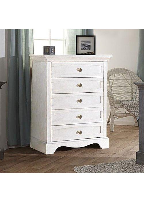 Pali Furniture Pali Furniture Ragusa/Enna 5 Drawer Dresser In Vintage White
