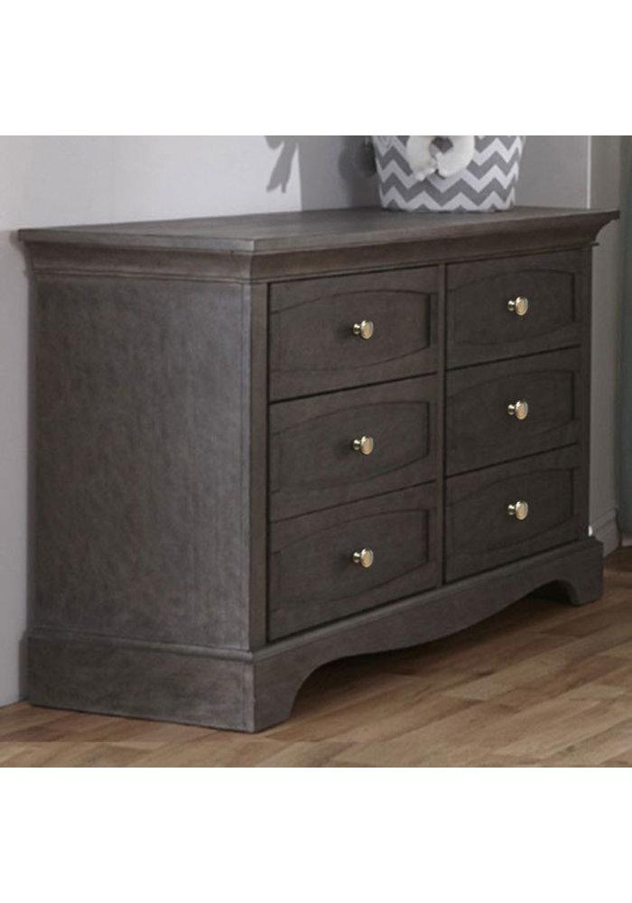 Pali Furniture Ragusa/Enna Double Dresser In Distressed Granite