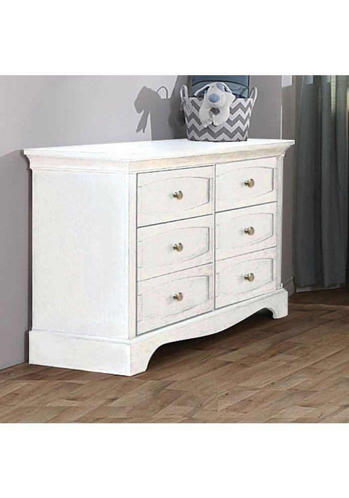 Pali Furniture Ragusa/Enna Double Dresser In Vintage White