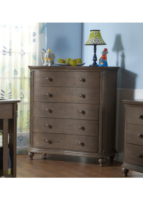 Pali Furniture Pali Furniture Gardena 5 Drawer Dresser In Slate