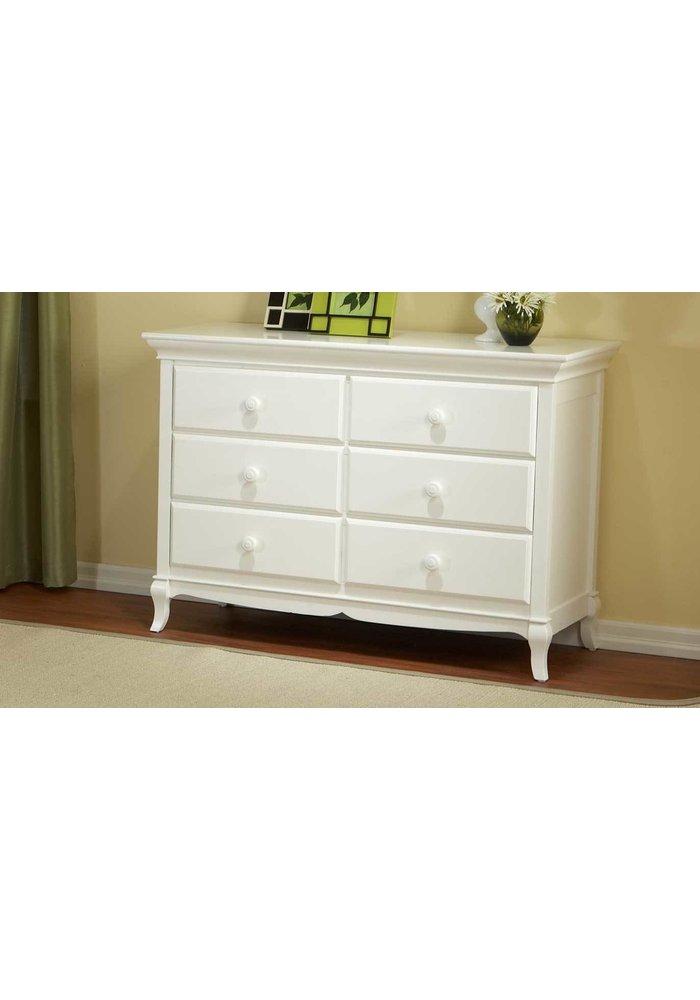 Pali Furniture Mantova Double Dresser In White