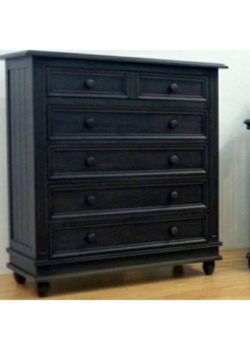 Pali Furniture Pali Furniture Marina 5 Drawer Dresser In Onyx