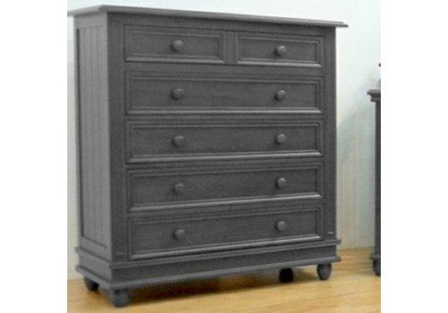 Pali Furniture Pali Furniture Marina 5 Drawer Dresser In Slate