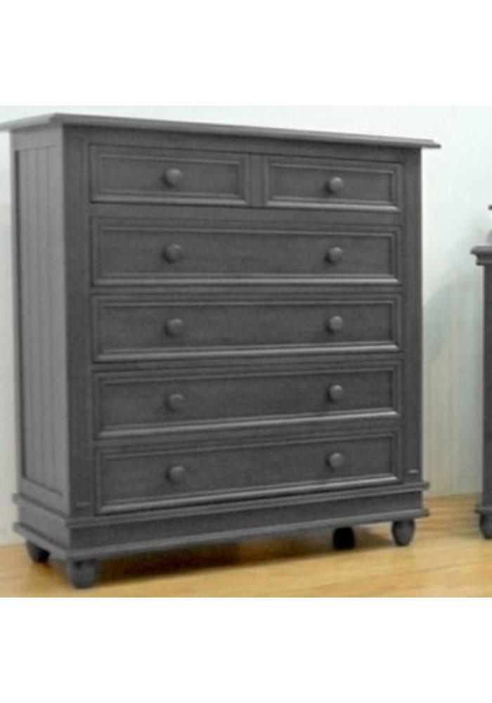 Pali Furniture Marina 5 Drawer Dresser In Slate