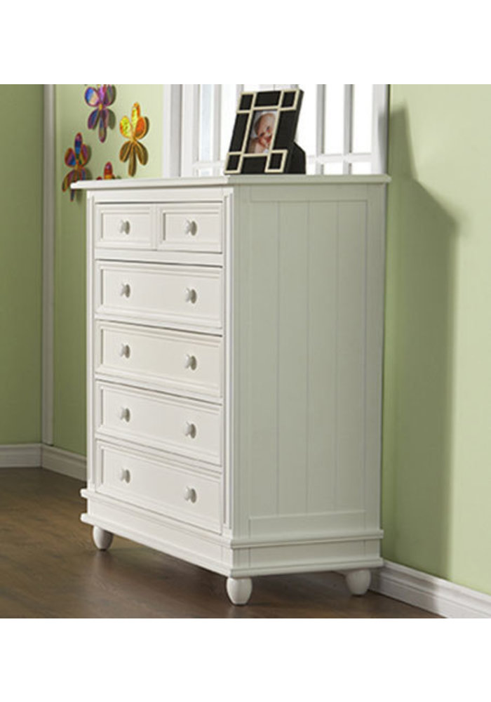 Pali Furniture Marina 5 Drawer Dresser In White