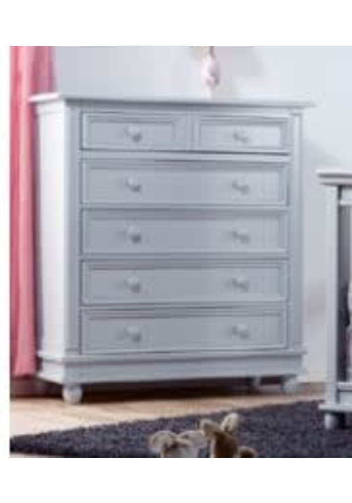 Pali Furniture Marina 5 Drawer Dresser In Stone