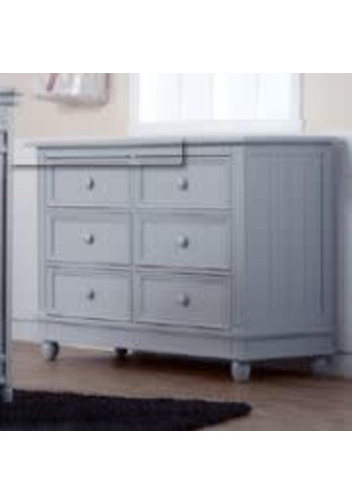 Pali Furniture Marina Double Dresser In Stone