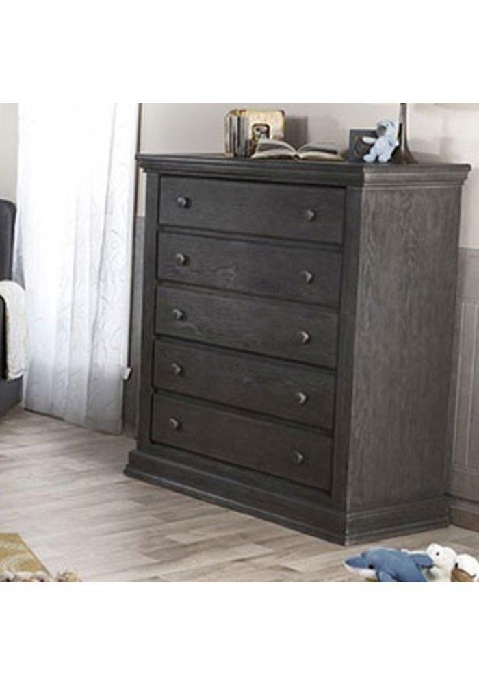 Pali Furniture Modena 5 Drawer Dresser In Distressed Granite