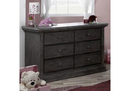 Pali Furniture Pali Furniture Modena Double Dresser In Distressed Granite