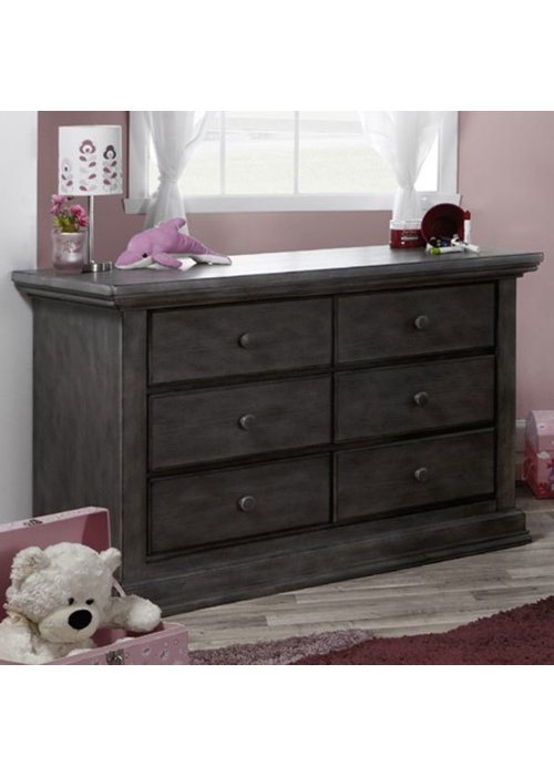 Pali Furniture Pali Furniture Modena Double Dresser In Distressed Granite