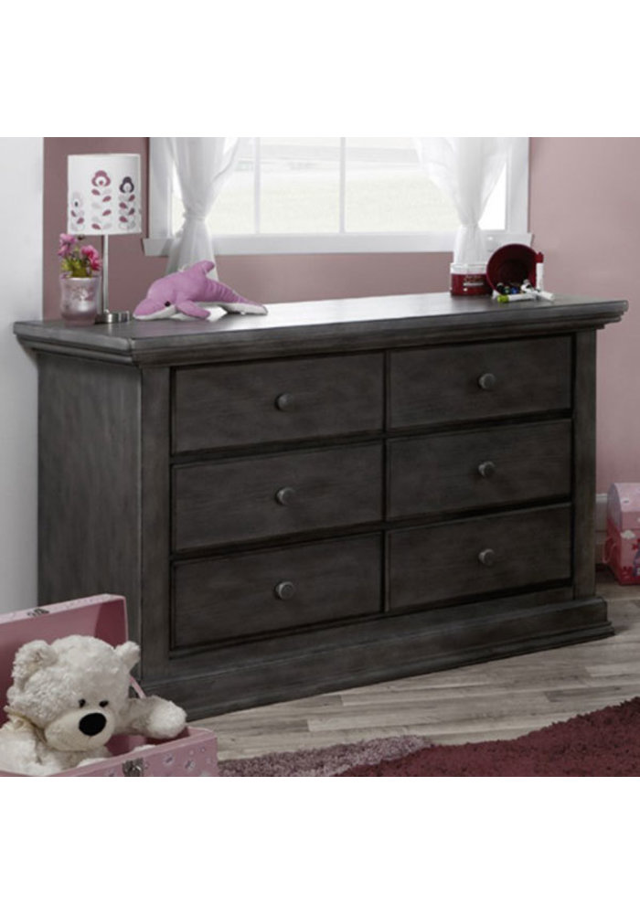 Pali Furniture Modena Double Dresser In Distressed Granite