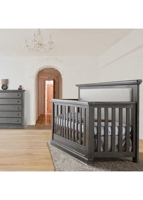 Pali Furniture Pali Furniture Modena Forever Crib In Distressed Granite With Grey Vinyl