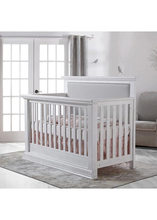 Pali Furniture Pali Furniture Modena Forever Crib In Vintage White With Grey Vinyl