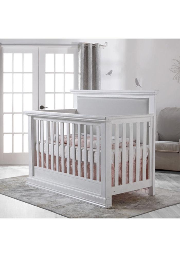 Pali Furniture Modena Forever Crib In Vintage White With Grey Vinyl