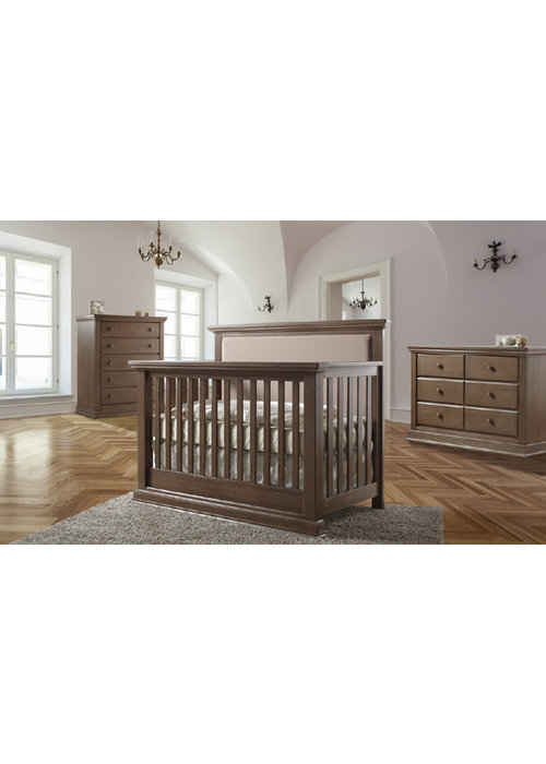 Pali Furniture Pali Furniture Modena Forever Crib In Distressed Desert  With Taupe Fabric