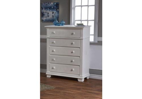 Pali Furniture Pali Furniture Torino/Biella/Lucca 5 Drawer Dresser In White